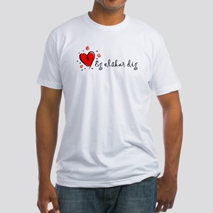 """""""I Love You"""" [Danish] Fitted T-Shirt"""